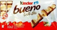 Kinder Bueno White, weisse Schoggi, 2 Pack mit 10x2 Riegel, einzeln verpackt