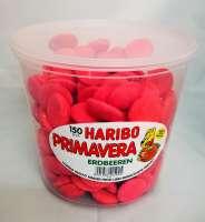 Haribo Primavera gross, New Price! , Erdbeeren aus Schaumzucker in der Frischebox