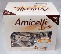 Amicelli Kaffeebeilage, Schoggi Waffelröllchen mit Haselnusscreme, 180 Stück