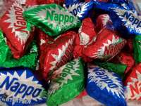 Nappo, Zartbitterschokolade mit Nougat, 100g, ca. 13 Stück