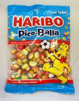 Haribo Pico Balla, Fruchtgummi-Konfekt, Beutel mit 175g