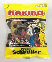 Haribo Crazy Schnuller, Fruchtgummi mit Lakritze, Beutel a 200g