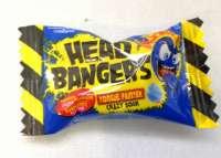 Head Bangers Balls, saures Himbeer Bonbon, Zungenfärber, 10 Stück
