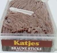 Frigeo, Katjes, Braune Rattenschwänze, Cola, Katjes braune Sticks, ohne Gelatine, 200 Stück