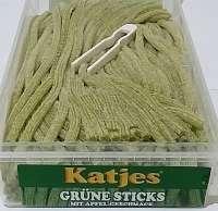 Frigeo, Katjes, Grüne Rattenschwänze, Apfel, Katjes grüne Sticks, ohne Gelatine, 200 Stück