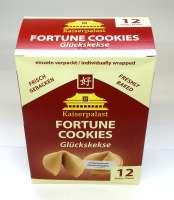 Glückskekse, Fortune Cookies, 2 Packungen a 12 Stück