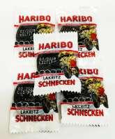 Haribo Lakritz-Schnecken, einzeln verpackt, 5 Stück