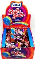 Rolla Belta Erdbeer, Fruchtgummi-Rolle, einzeln verpackt, 24 Stück