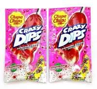 Chupa Chups Crazy Dips, Erdbeer, Loli mit Knallbrause, 2 Stück