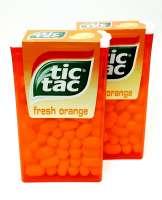 Tic Tac Orange, die grosse Dose, 2 Stück a 49g