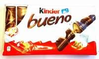 Kinder Bueno, Schoggiriegel, 2 Pack a 10x2 Riegel, einzeln verpackt