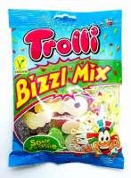 Trolli Bizzl Mix, Veganes Fruchtgummi, Sour Vegie, 3 Beutel a 200g