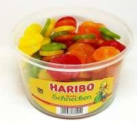 Haribo bunte Schnecken, Frischebox mit 150 Stück