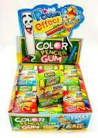Colour Pencil Gum, Kaugummistift mit Pulver Effekt, 1 Päckli a 10 Stück