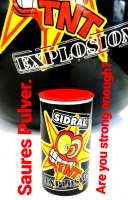 Sidral TNT Explosion Pulver, Erdbeer Aroma, 1 Dose a 12g