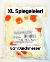 Spiegeleier XL, Fruchtgummi XL, ca. 8cm Durchmesser, 1kg
