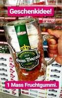 Für Bierliebhaber! Mass Bier aber gefüllt mit Marshmallows und Gummibärli. Geschenkidee!