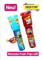 Bazooka Push Pop Lolli, Lolipop, 2 Stück