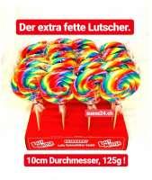 Spiral Lutscher, Lolly, extra gross, Loli mit 10cm Durchmesser und 125g! 1 Stück