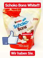 Schoko Bons White, weisse Schoko Bons, Limited Edition, Beutel a 200g