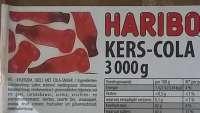 Haribo Kirsch-Cola Flaschen, Fruchtgummi ohne Gelatine, im Sparpack 3kg