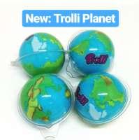 Trolli Planet Gum, Fruchtgummi-Planet mit flüssiger Füllung, 4 Stück