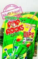 Pop Rocks saurer Apfel, Popping Candy mit Lollipop und Tattoo, 1 Stück