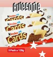 Kinder Cards, neues Top Produkt von Ferrero, 3 Pack a 128g