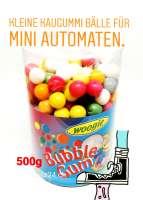 Kaugummis zum nachfüllen für kleinere Kaugummi Automaten, ca. 13mm Durchmesser, 500g