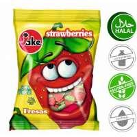 Halal Fruchtgummi, Jake Erdbeeren, 5 Beutel a 100g