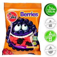Halal Fruchtgummi, Jake Berries, 5 Beutel a 75g