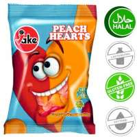 Halal Fruchtgummi, Jake Peach Hearts, 5 Beutel a 100g