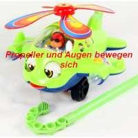 Stossfigur Flugzeug, die Propeller und Augen bewegen sich, 1 Stück