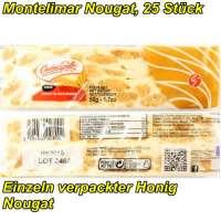 Montelimar Nougat Stangen, Nougat mit Honig und Mandeln, 25 x 50g