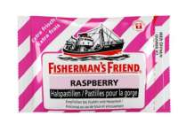 Fishermans Friend Raspberry, jetzt auch in der Schweiz, Pack mit 24 Beuteln
