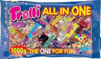 Trolli All in One Minibeutel, Fruchtgummi, 50 Beutel