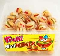 Trolli Mini Burger, Hamburger Fruchtgummi, Frischebox mit 60 Stück