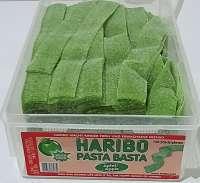 Haribo Pasta Basta, Apfel, Fruchtgummi Bänder, sauer, 150 Stück, Ohne Gelatine