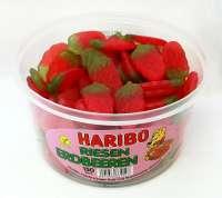 Haribo Riesen Erdbeeren, ohne Gelatine, vegan, 150 Stück in der Frischebox