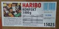 Haribo Lakritz Konfekt, Gastropack, 3kg