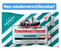 Fishermans Friend Spearmint, Zältli, Neu wiederverschliessbar, 24 Beutel