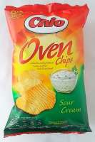 Chio Sour Cream, Chio Chips, geriffelt, 5 Pack a 150g