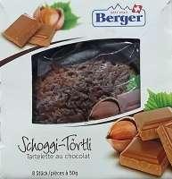 Berger Schoggi Törtli, einzeln verpackt, 8 Stück