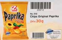Zweifel Paprika Chips, Minibeutel für zwischendurch, 20 Pack a 30g